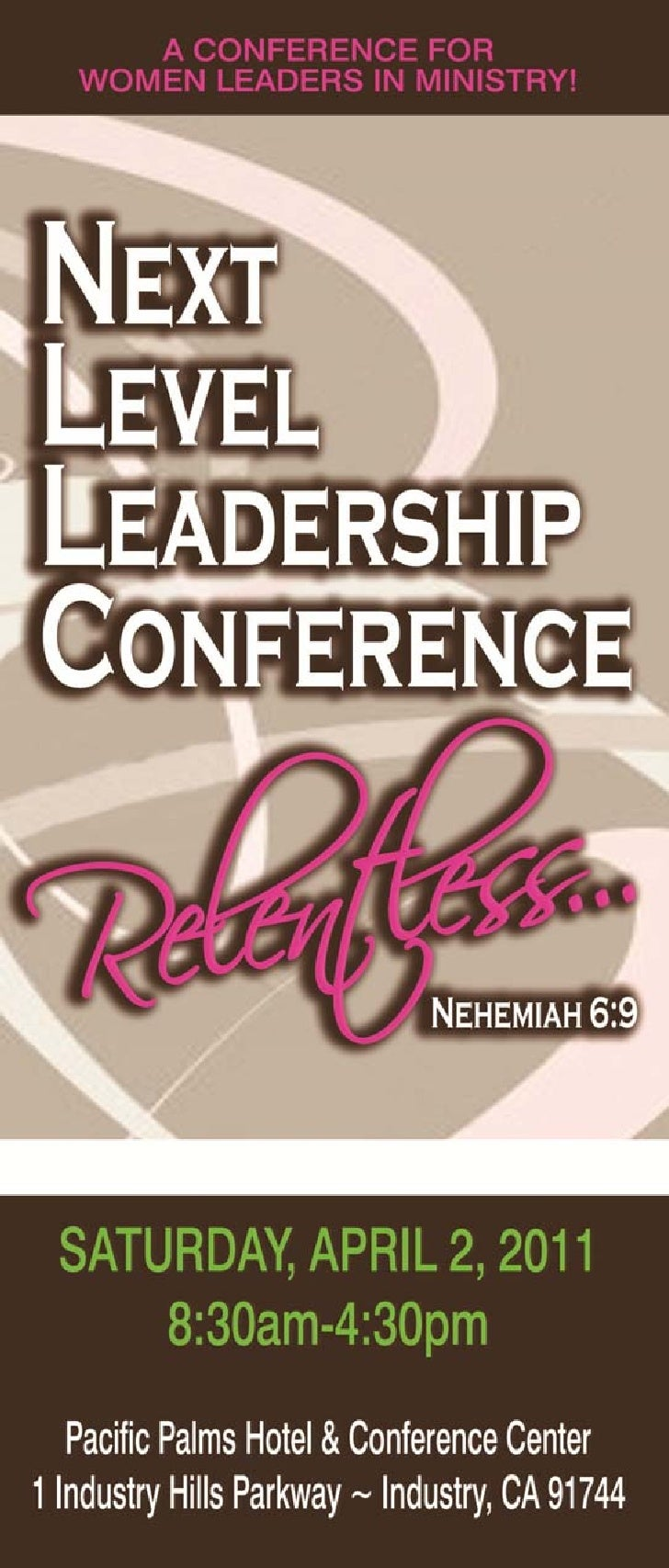Brochure for Leadership Conference