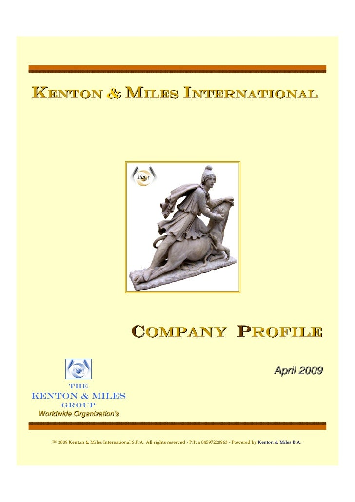 Kenton & miles international                                              Company Profile                                 ...