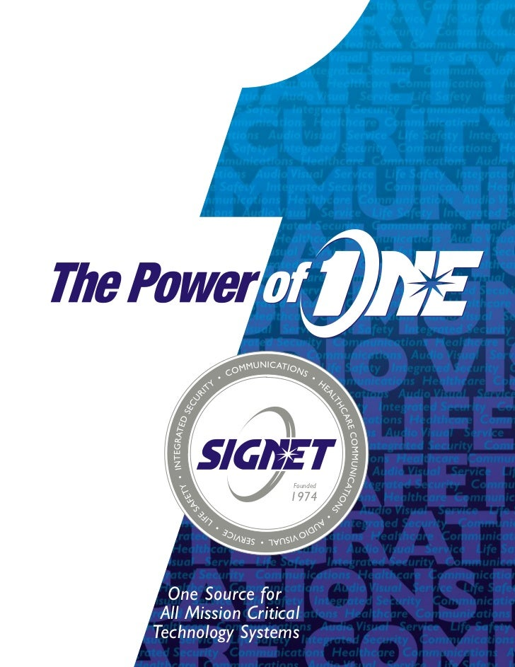 SIGNET Electronic Systems Company Brochure