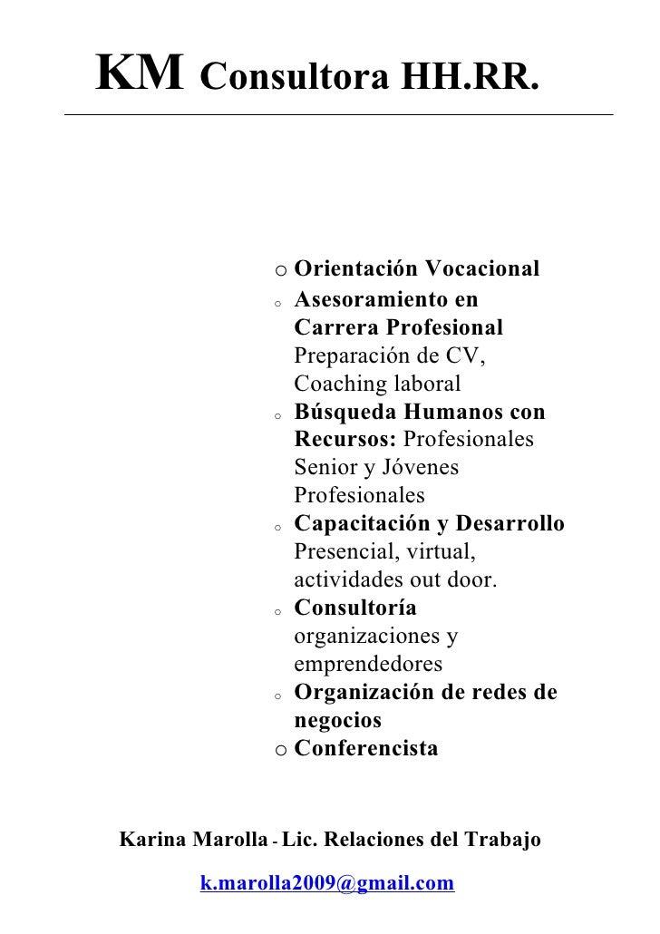 Brochure KM Consultora HH.RR.