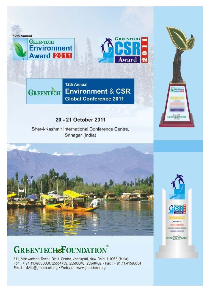 12th Annual Greentech Environment & CSR Conference 2011