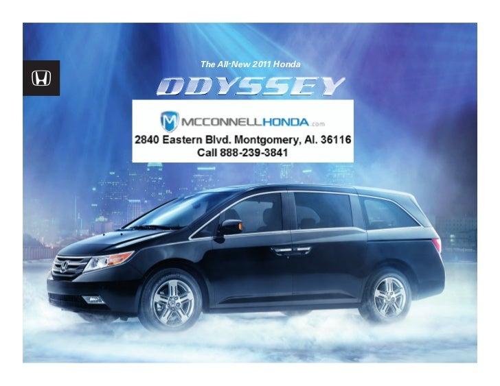 2011 Honda Odyssey Brochure Montgomery Alabama