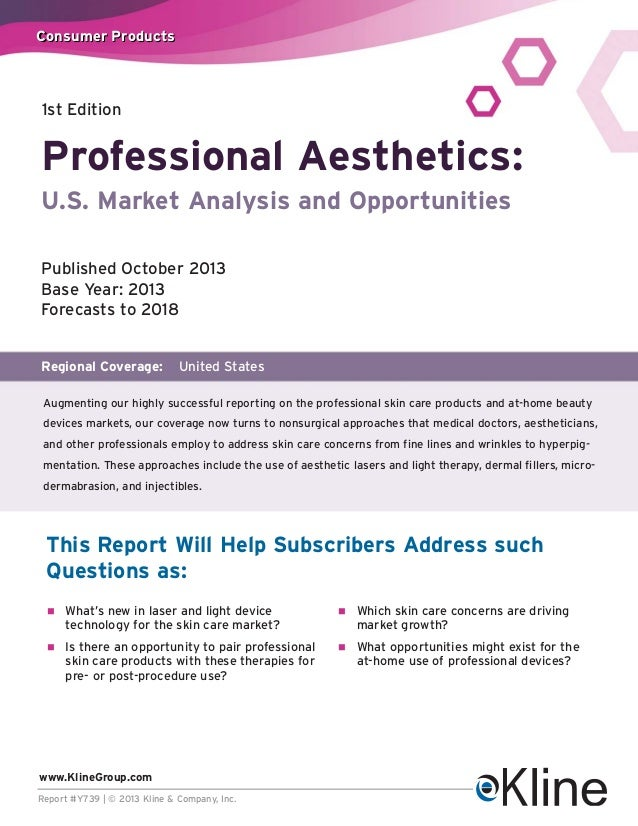 Consumer Products  1st Edition  Professional Aesthetics: U.S. Market Analysis and Opportunities Published October 2013 Bas...