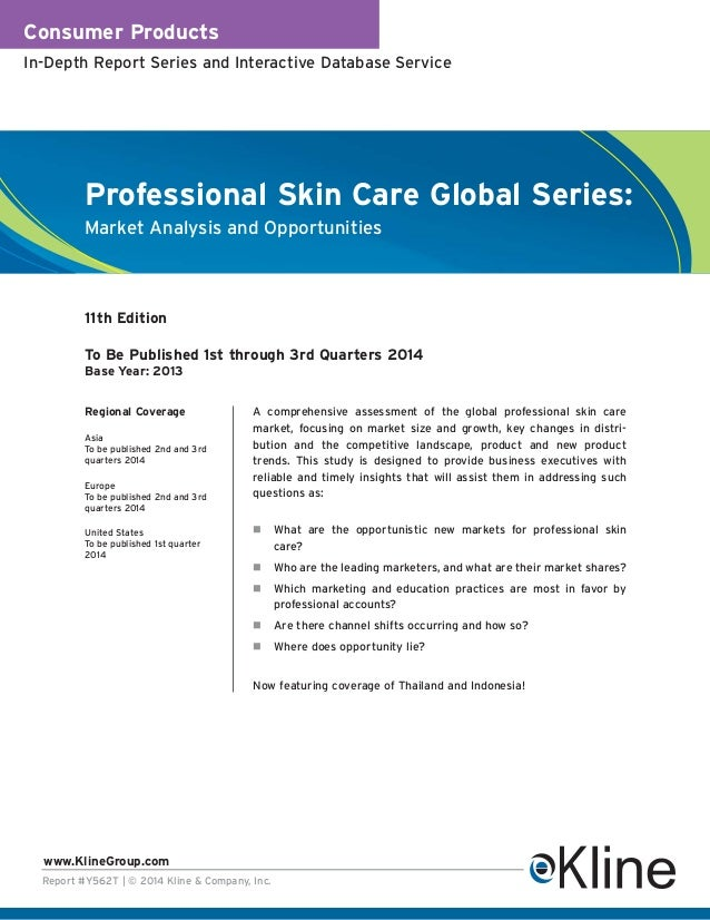 Consumer Products In-Depth Report Series and Interactive Database Service  Professional Skin Care Global Series: Market An...