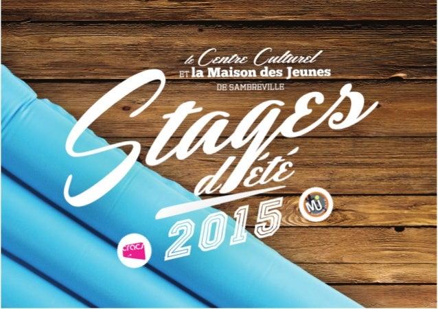 Brochure des stages d'été 2015