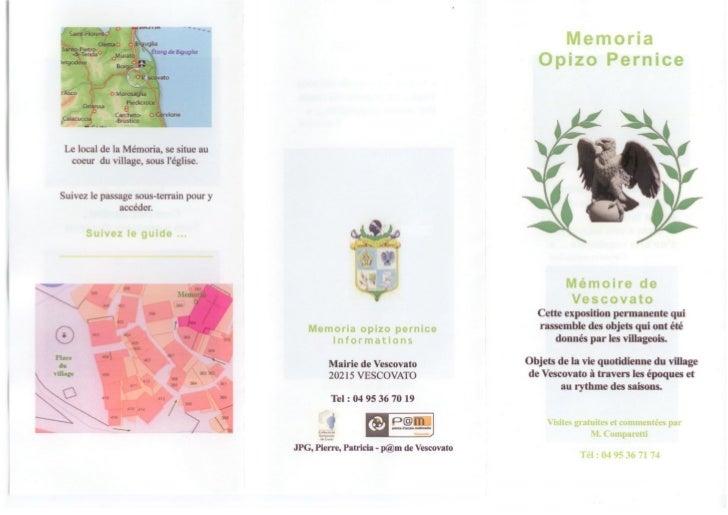 Brochure a memoria
