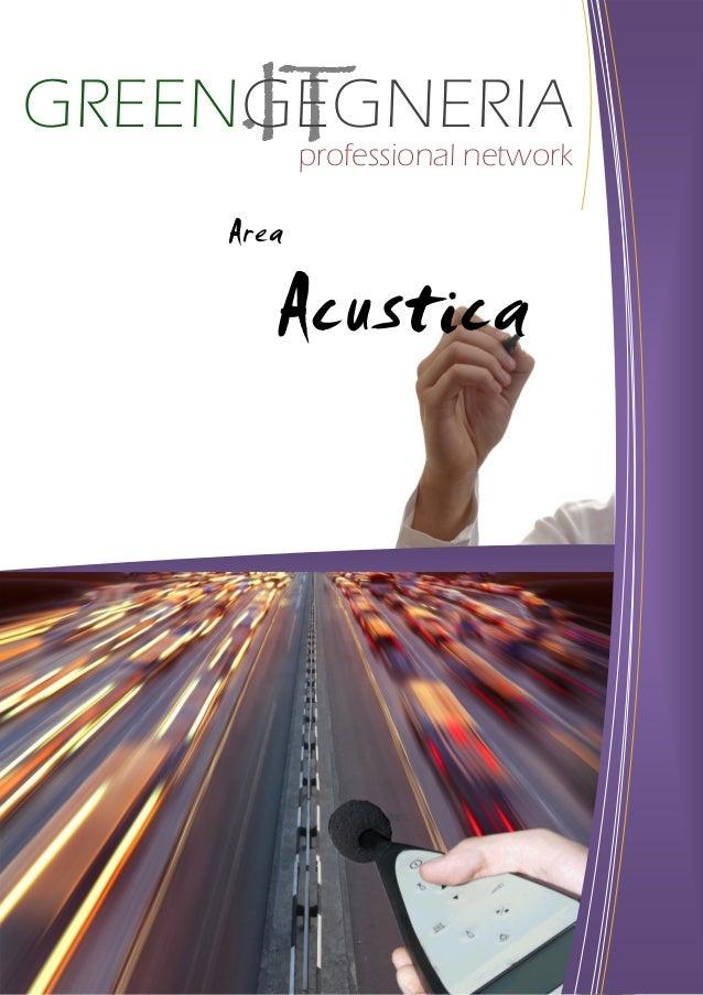 GREENGEGNERIA Professional Network - Area Acustica