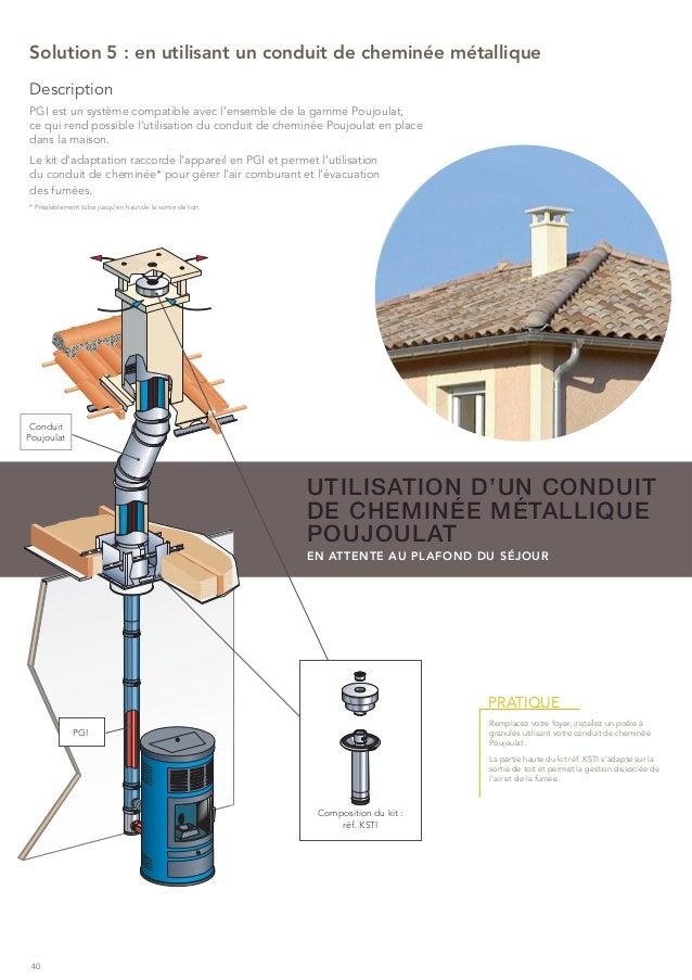 Poujoulat brochure solutions pour le chauffage au bois for Pose d un chapeau de cheminee