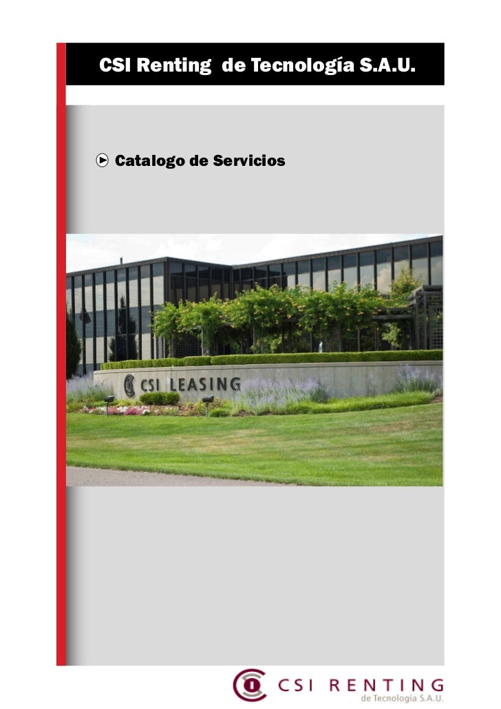 Brochure catalogo de servicios