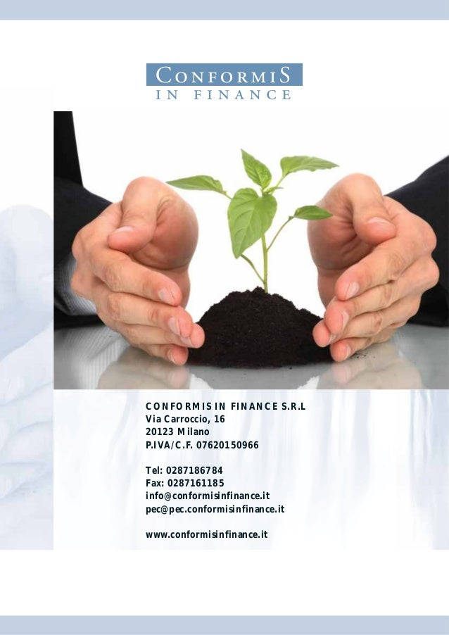 Presentazione Conformis in Finance