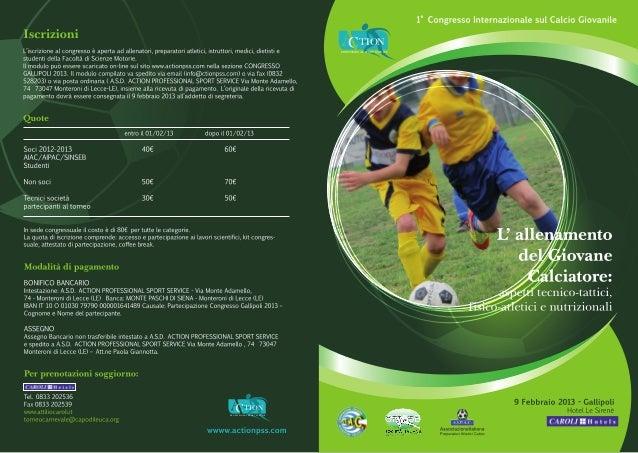 Brochure congresso calciogiovanile