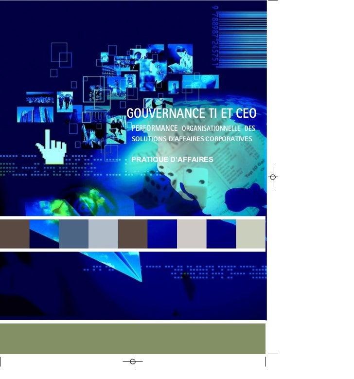 Document1   11/23/04   9:22 AM   Page 1                                          GOUVERNANCE TI ET CEO                    ...