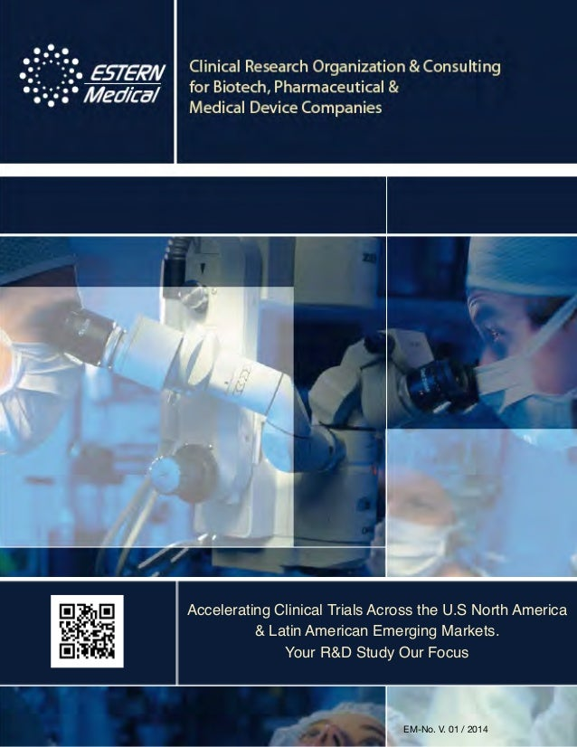 "ESTERN Medical CRO Company ""Brochure"" 2014 V1"