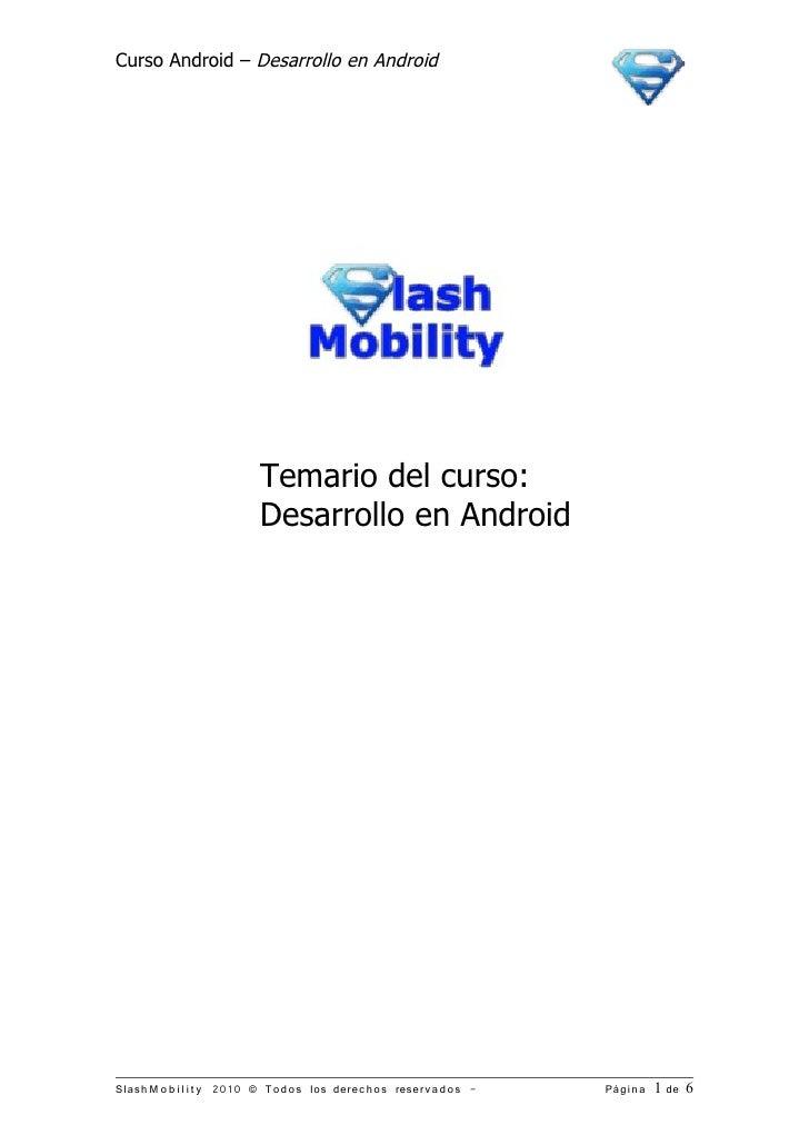 Brochure curso desarrollo aplicaciones android