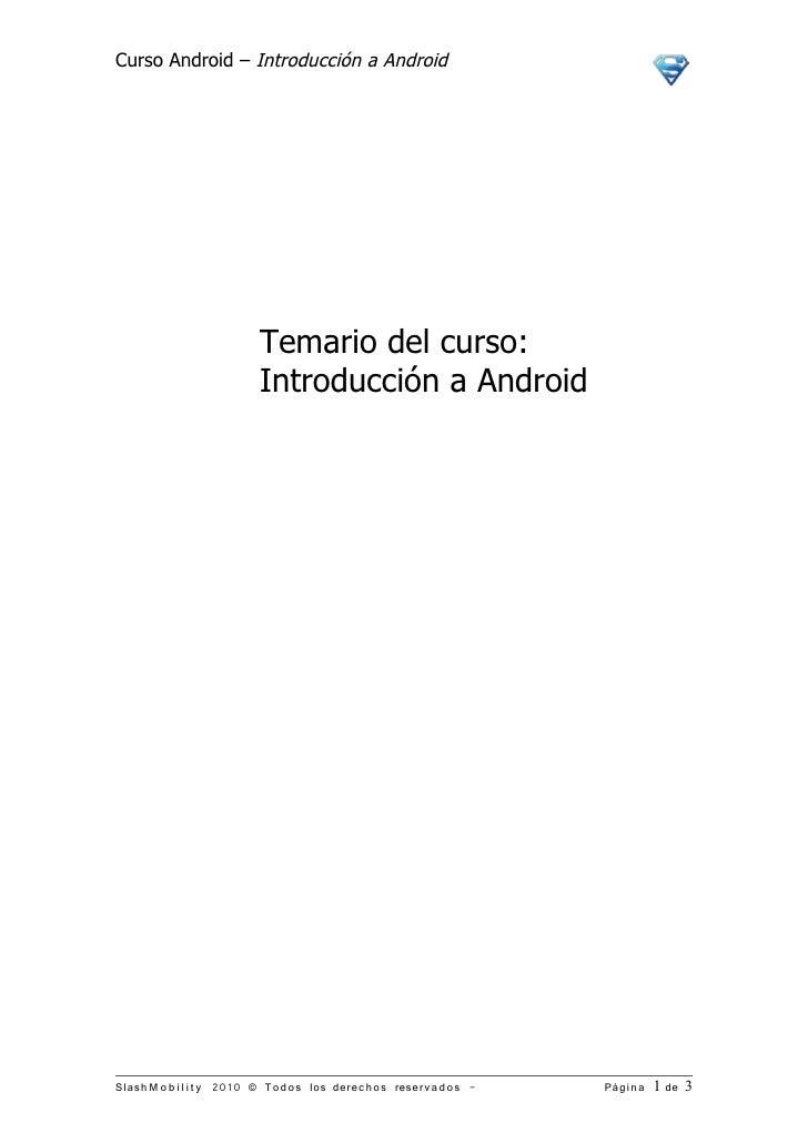 Brochure curso introducción android