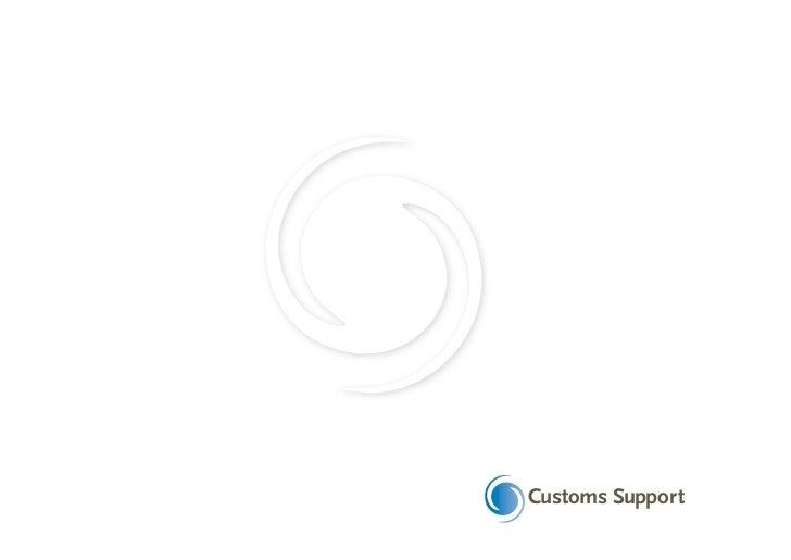 Brochure customs support