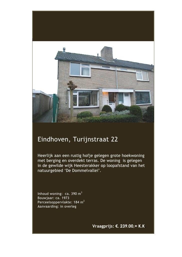 Te huur of te koop hoekwoning Eindhoven