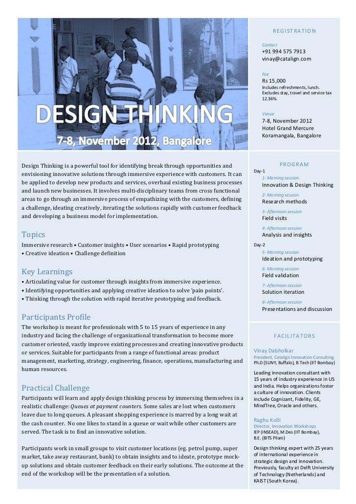 Design Thinking: A 2-day program on customer-centric innovation