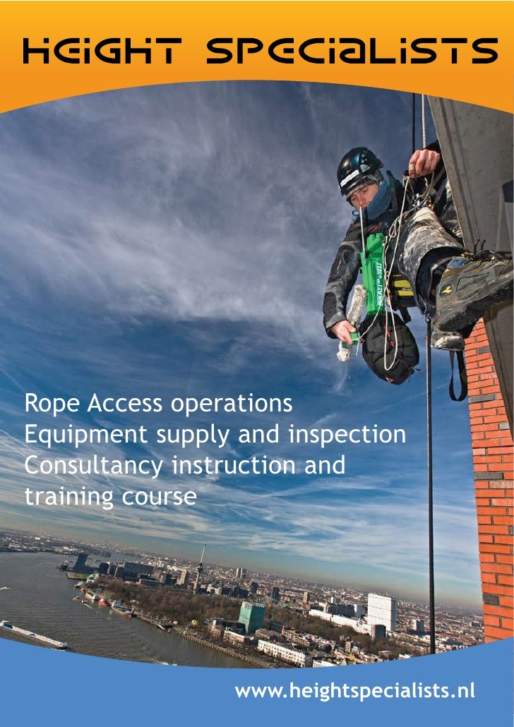 Rope Access operations Equipment supply and inspection Consultancy instruction and training course                      ww...