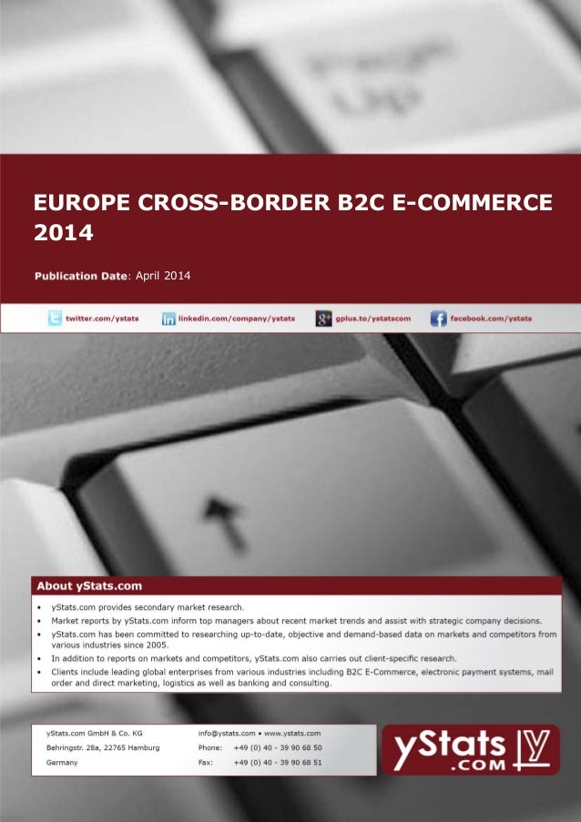 EUROPE CROSS-BORDER B2C E-COMMERCE 2014 April 2014