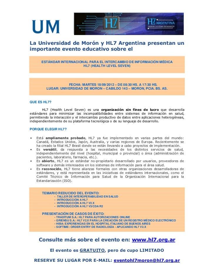 Brochure evento hl7 UM