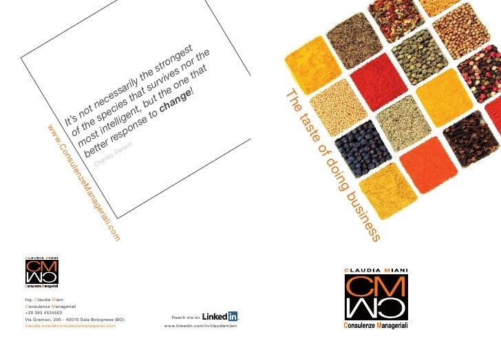 CM Consulenze Manageriali Brochure English