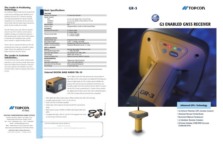 The Leader in Positioning Technology...                                               Basic Specifications                ...
