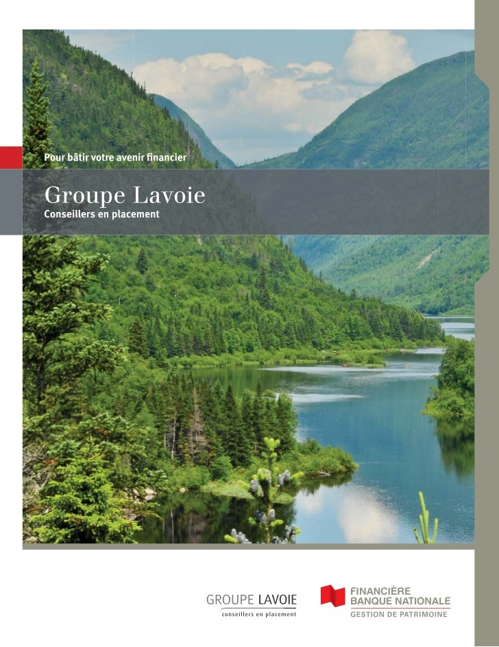Brochure Groupe Lavoie