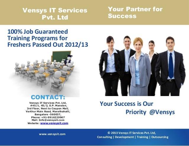 Job Guaranteed Training for Fresher in Bangalore