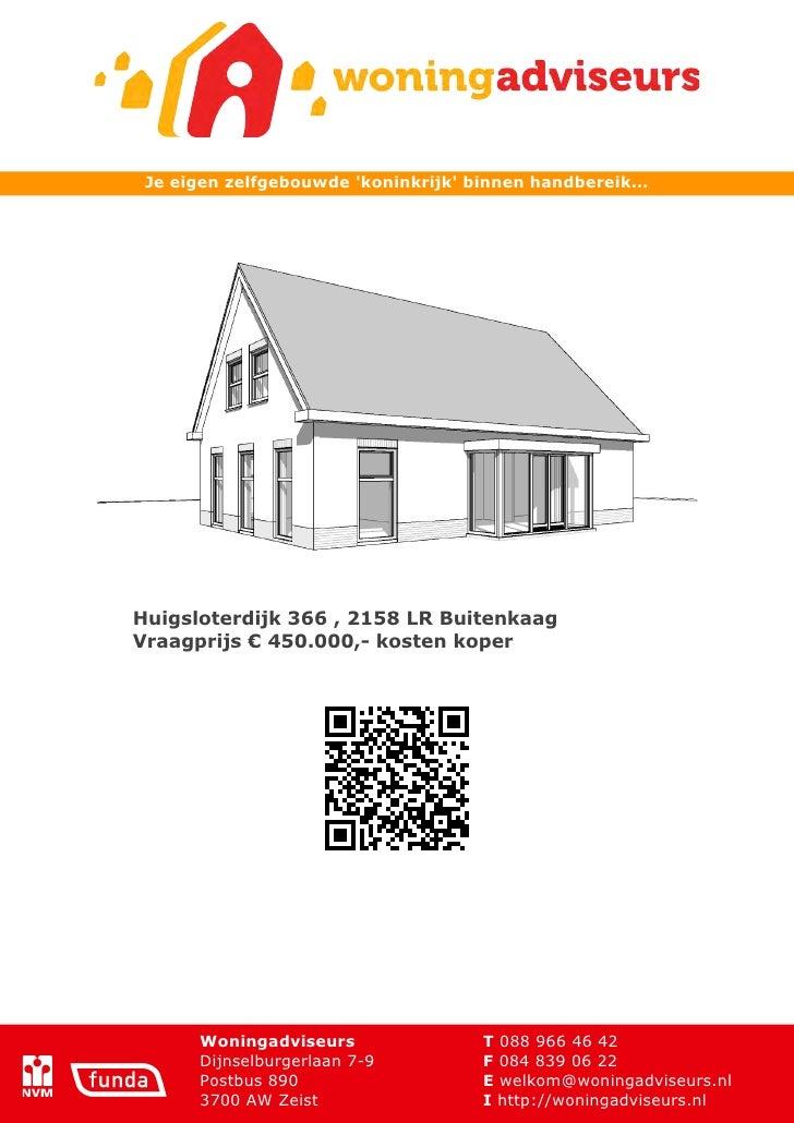 Brochure huigsloterdijk 366 te buitenkaag