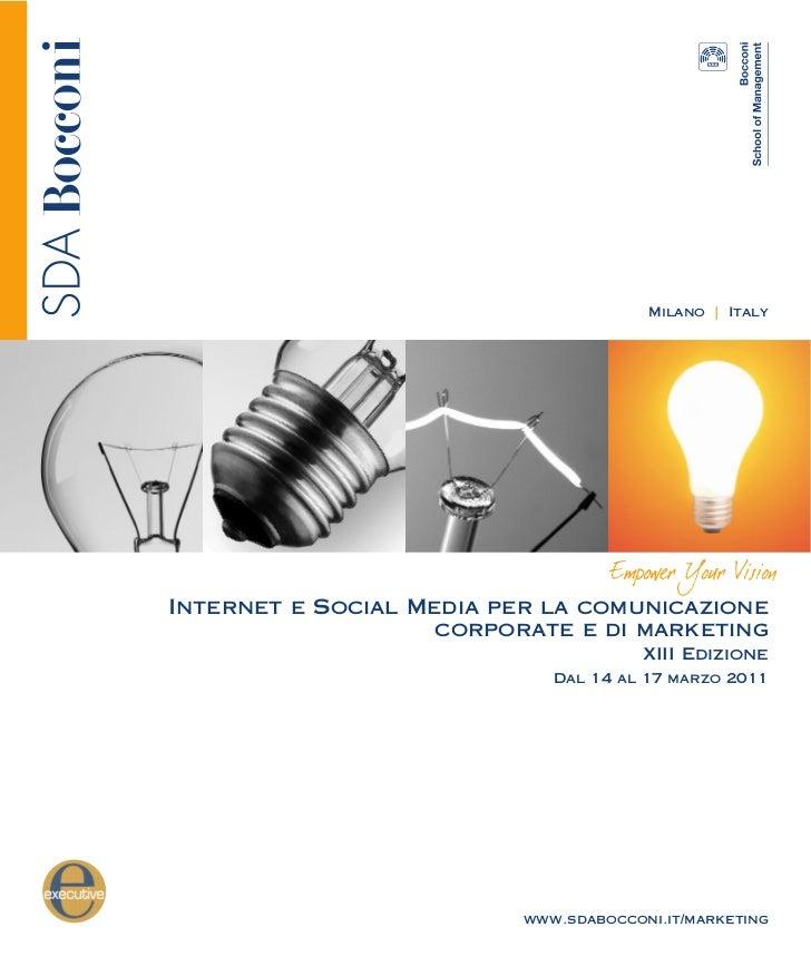Brochure Internet e social media per la comunicazione corporate e di marketing