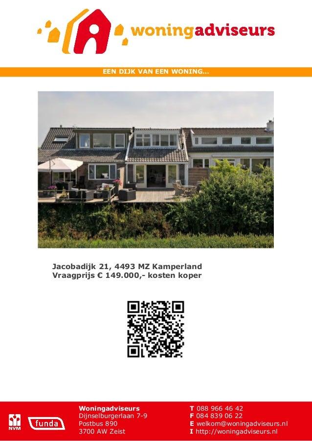 Brochure jacobadijk 21 te Kamperland