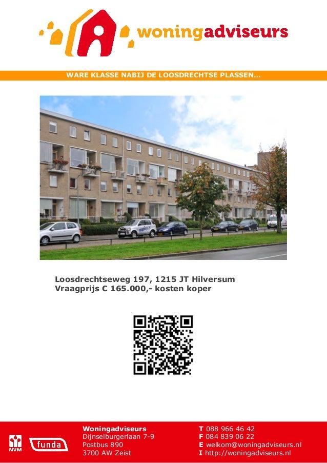 Brochure Loosdrechtseweg 197 te Hilversum