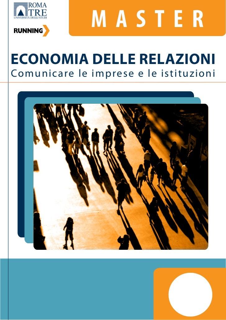 Economia delle Relazioni. Comunicare le imprese e le istituzioni.