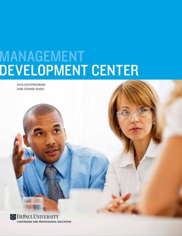 DePaul CPE Management Development Center Program and Course Guide 2013