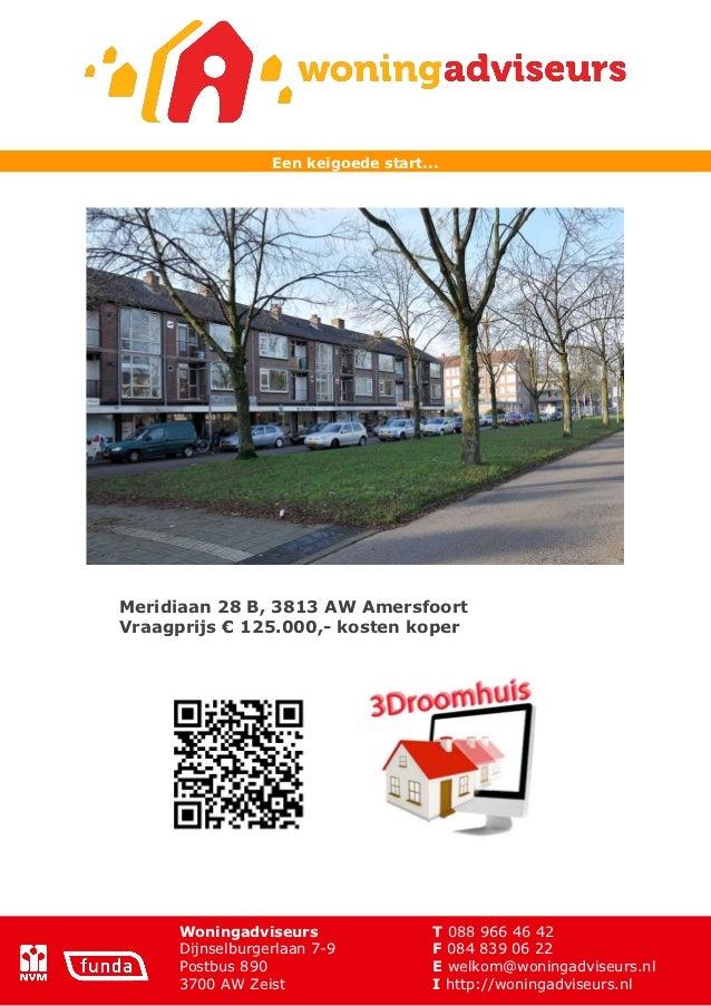 Brochure Meridiaan 28 b te Amersfoort