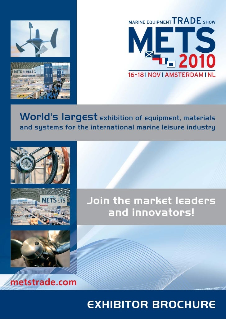 World's largest exhibition of equipment, materials  and systems for the international marine leisure industry             ...