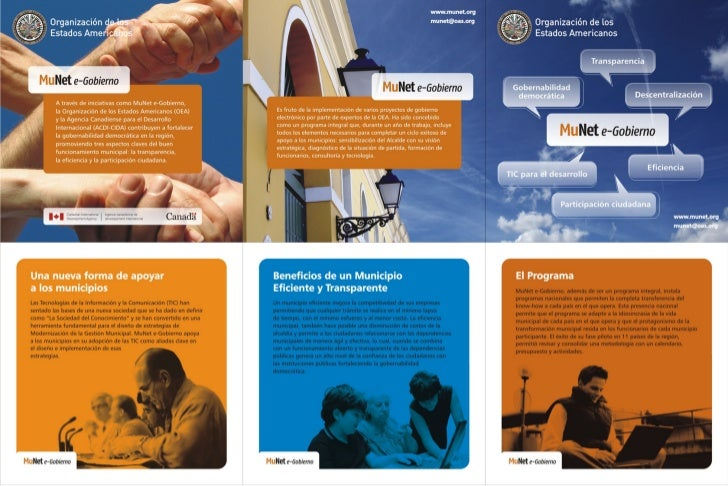Brochure MuNet E-Gobierno