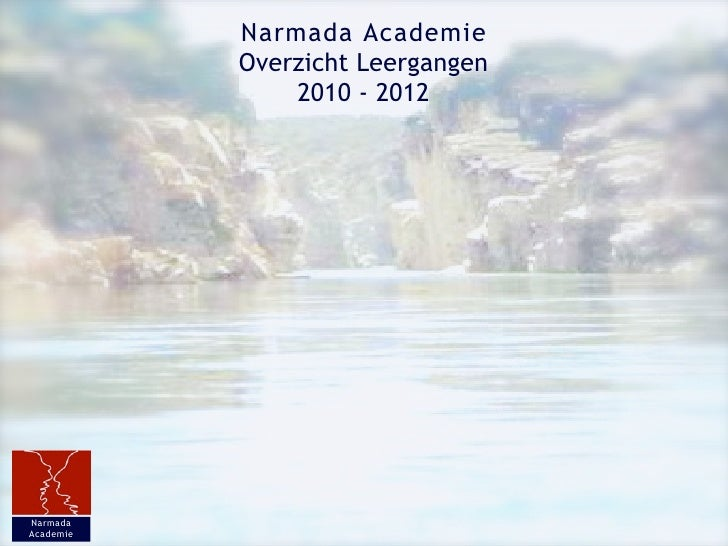 Brochure Narmada Academie 2010   2012