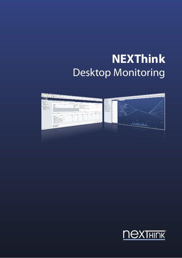 NEXThink Desktop Monitoring