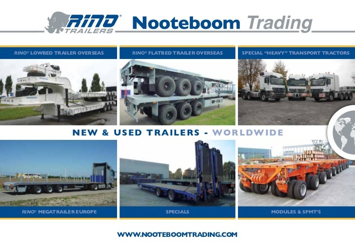 "Rino® lowbed trailer overseas      Rino® flatbed trailer overseas   special ""heavy"" transport tractors                  ne..."