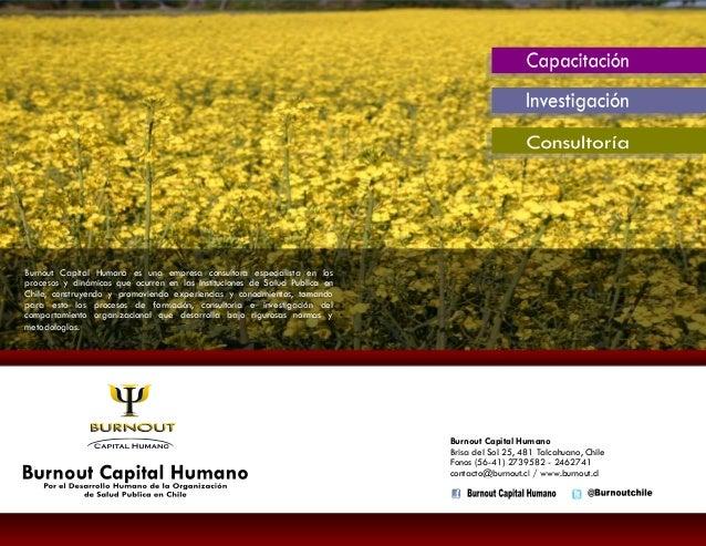 Burnout Capital Humano - PAC 2014 Salud Publica