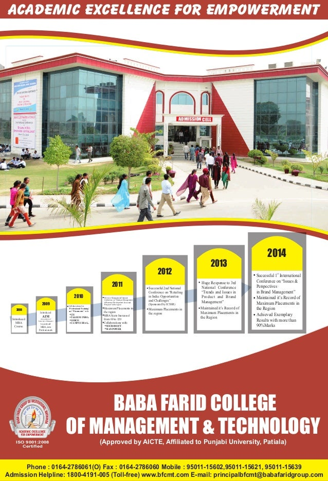 Baba Farid College Of Management & Technology.