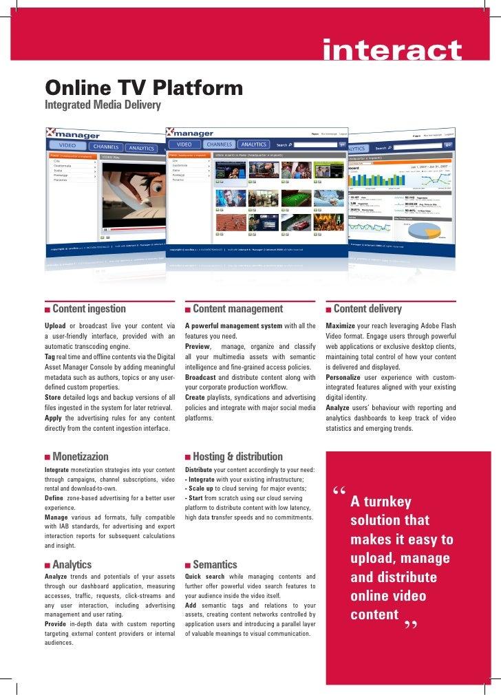 Brochure Online TV Platform