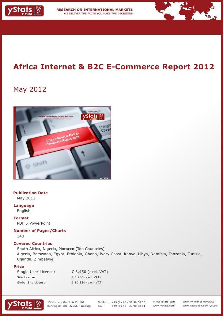Brochure & Order Form_Africa Internet & B2C E-Commerce Report 2012_by yStats.com