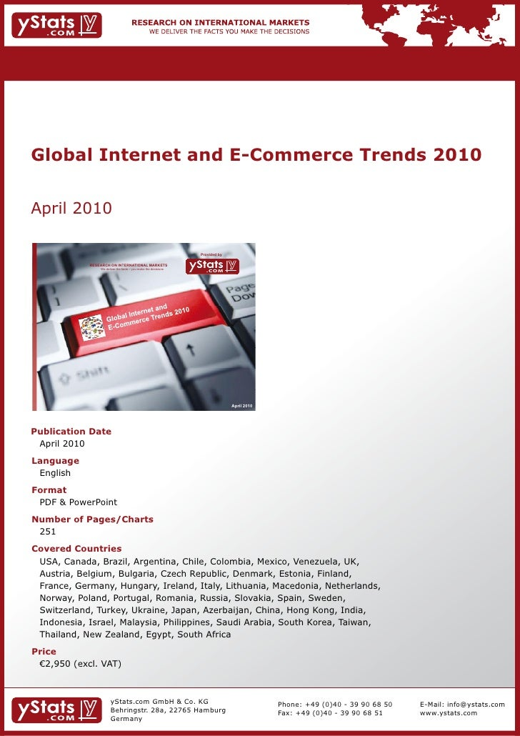 Global Internet and E-Commerce Trends 2010    April	2010                                                                  ...