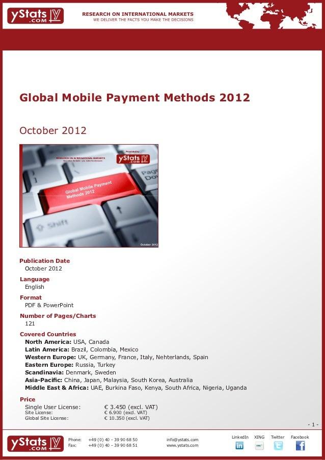 Brochure & Order Form_Global Mobile Payment Methods 2012