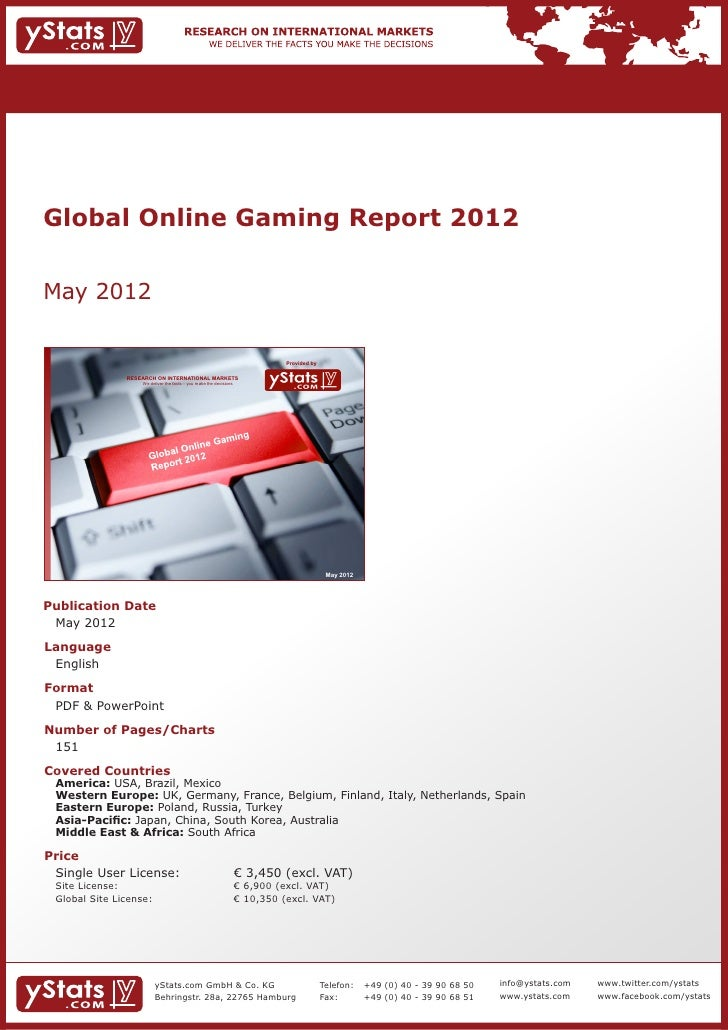 Global Online Gaming Report 2012May 2012                                                                               Pro...