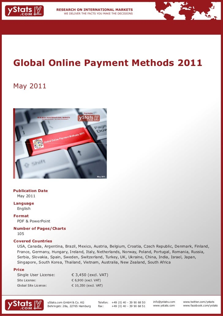 Global Online Payment Methods 2011May 2011                                                                             Pro...