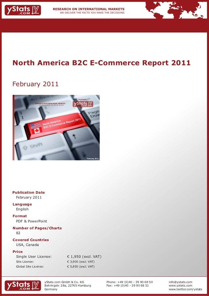 North America B2C E-Commerce Report 2011